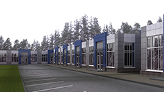 Торговый павильон общей площадью 554 м.кв.