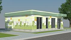 Проект магазина площадью 100 кв. м.