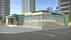Проект магазина торговой площадью 188 кв.м.