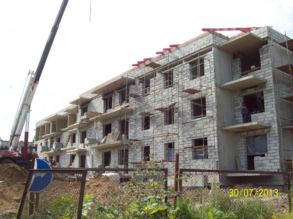"""Типовой проект 3-х этажного многоквартирного дома """"Антарес-2""""- фотография строительства"""