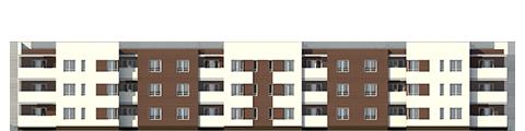 """Проект многоквартирного малоэтажного жилого дома """"Эрида""""-Фасад 3"""