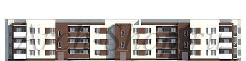 """Проект многоквартирного малоэтажного жилого дома """"Эрида""""-Фасад 1"""