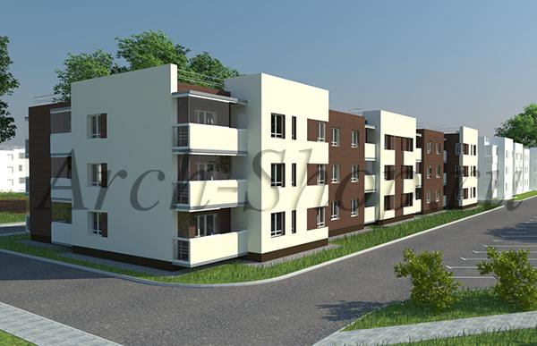 """Проект многоквартирного малоэтажного жилого дома """"Эрида""""-Визуализация-3"""