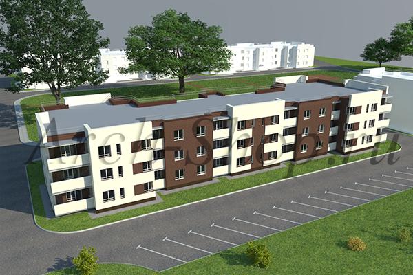 """Проект многоквартирного малоэтажного жилого дома """"Эрида""""-Визуализация 2"""