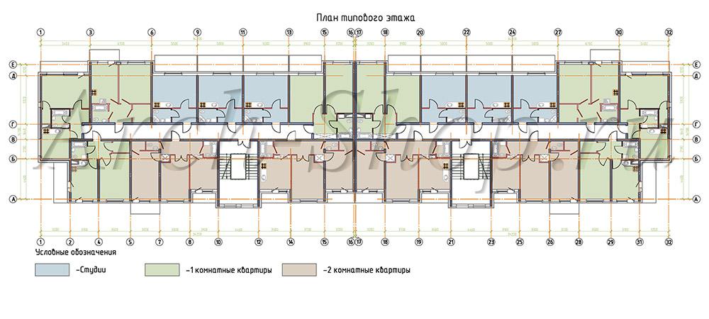 Планы -Алькор план тип эт -1000px