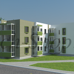 Проект многоквартирного 1-секционного, 3-х этажного дома «Акрукс»