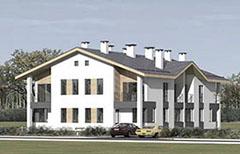 Проект двухэтажного жилого дома блокированной застройки