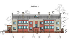 Проект 2-х этажного 16 квартирного жилого дома