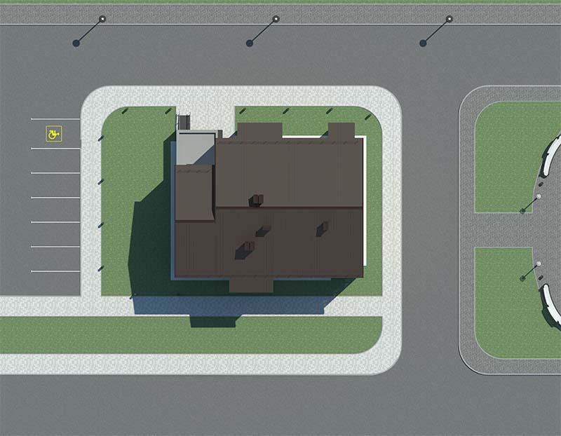"""Проект трехэтажного  многоквартирного дома """"Лабр-Генплан"""