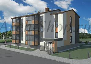 """Проект трехэтажного многоквартирного дома """"Лабр"""""""
