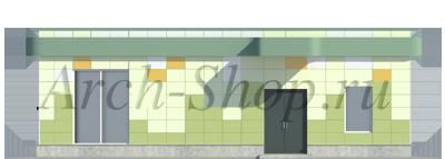 Проект магазина площадью 100 кв. м.-Фасад со двора