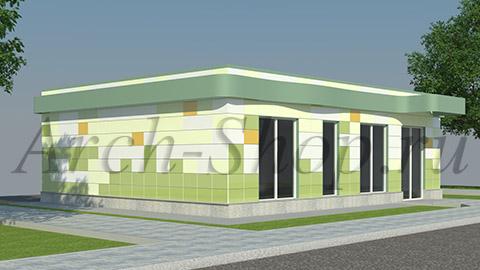 Проект магазина площадью 100 кв. м.-Визуализация 1