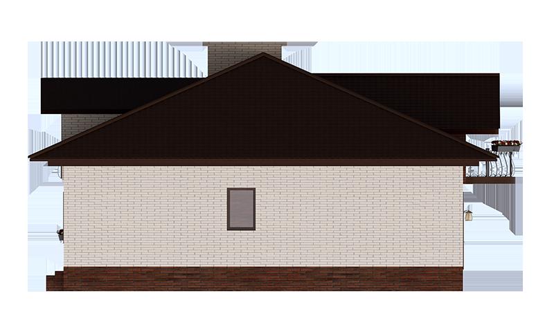 Проект таунхауса на 2 квартиры. Фасад