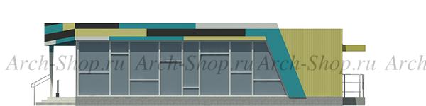 Проект магазина торговой площадью 188 кв.м.-фасад боковой2