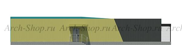 Проект магазина торговой площадью 188 кв.м.-фасад со двора