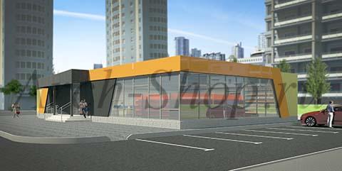 Проект магазина торговой площадью 188 кв.м.-Визуализация Вариант2