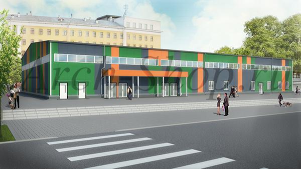 Проект магазина строительных товаров - визуализация 1