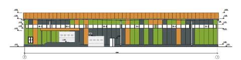 Проект магазина строительных товаров - Задний фасад