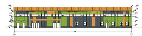 Проект магазина строительных товаров - Главный фасад