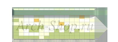 Проект магазина площадью 100 кв. м.-Боковой фасад