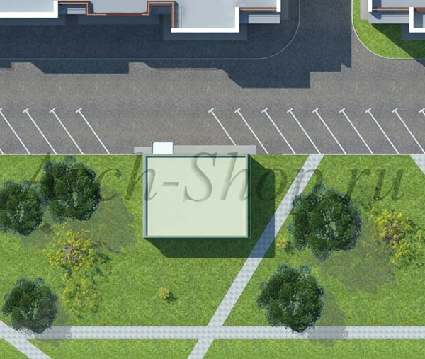 Проект магазина площадью 100 кв. м.-Генплан участка