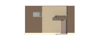 Проект магазина непродовольственных товаров. Фасад