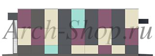 Проект продуктового магазина- Боковой фасад