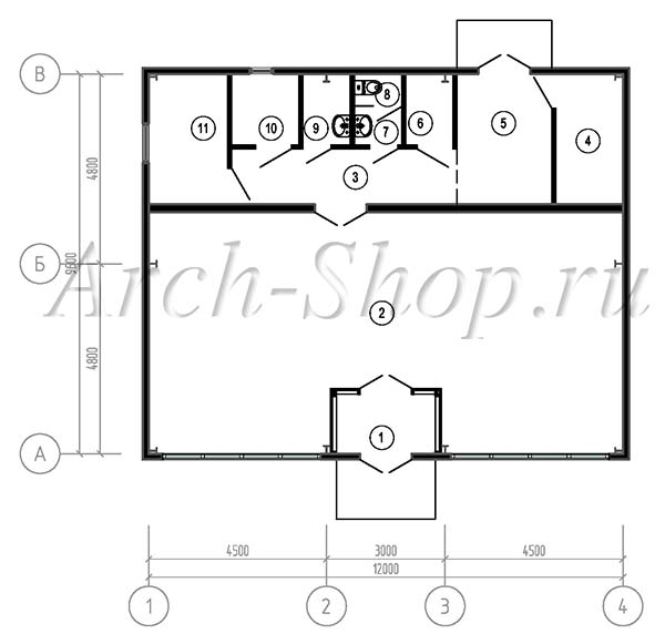 Проект продуктового магазина-план