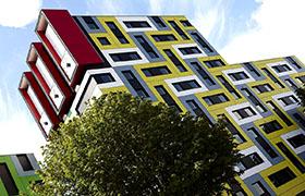 Оригинальные здания с фасадами из HPL панелей