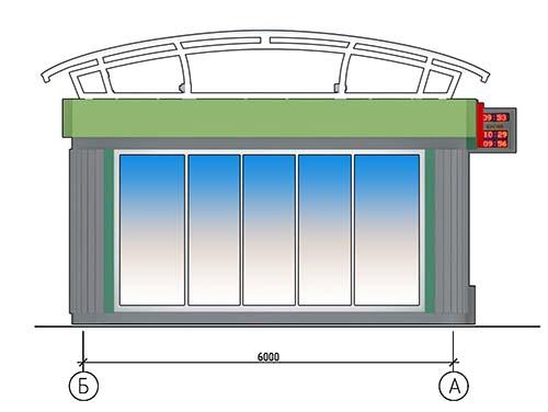 Проект остановочного комплекса. Фасад