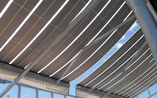 Инновационные технологии.  Маркизы с встроенными гибкими солнечными панелями