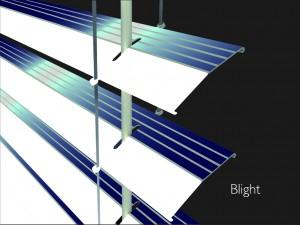 Инновационные технологии.  Жалюзи с встроенными гибкими солнечными панелями