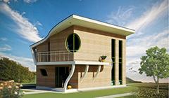 Двухуровневый дом  5х8 для молодой семьи