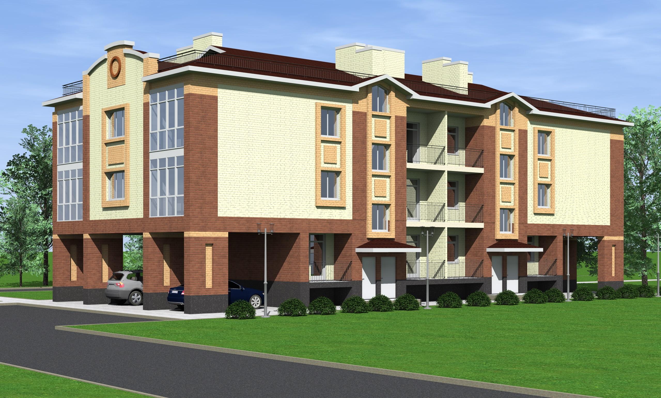 Проект 3-х этажного многоквартирного дома