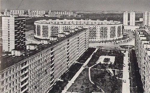 Дом в форме круга улице Нежинская, г. Москва.(1972г.)