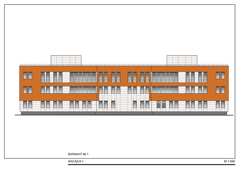 Проект административного здания. Фасад