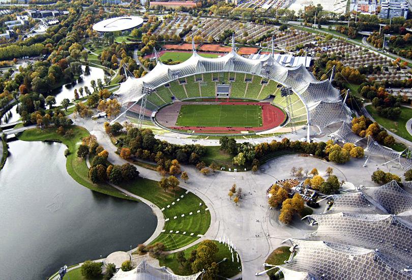 Крыша Олимпийского стадиона, для  проведения мюнхенских игр 1972 года