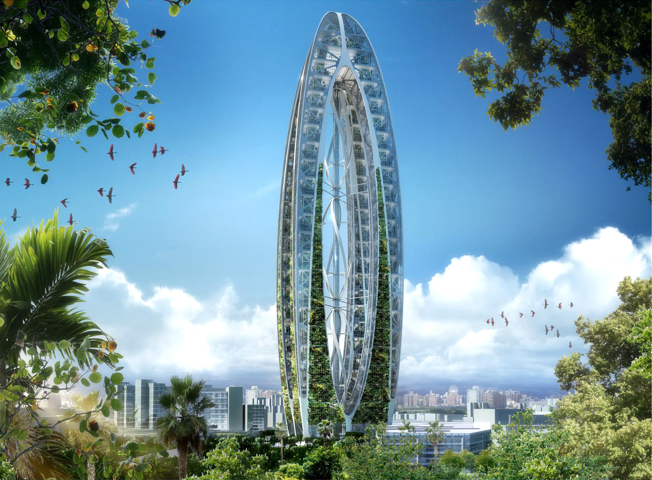 Бионический город.  Шанхай