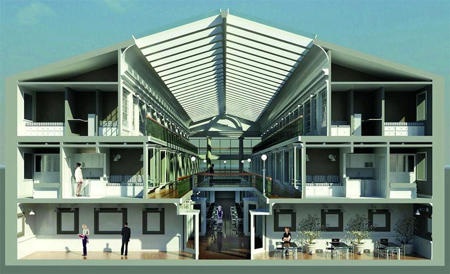 Перепланировка торгового центра в жилой дом