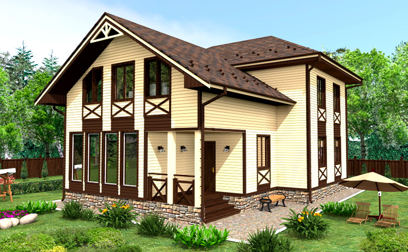 Дизайн частного дома из сайдинга