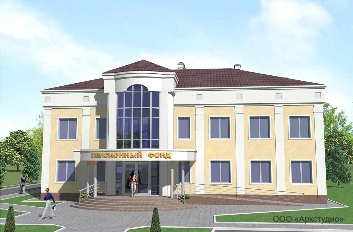 Проект административного здания.  Визуализация 2