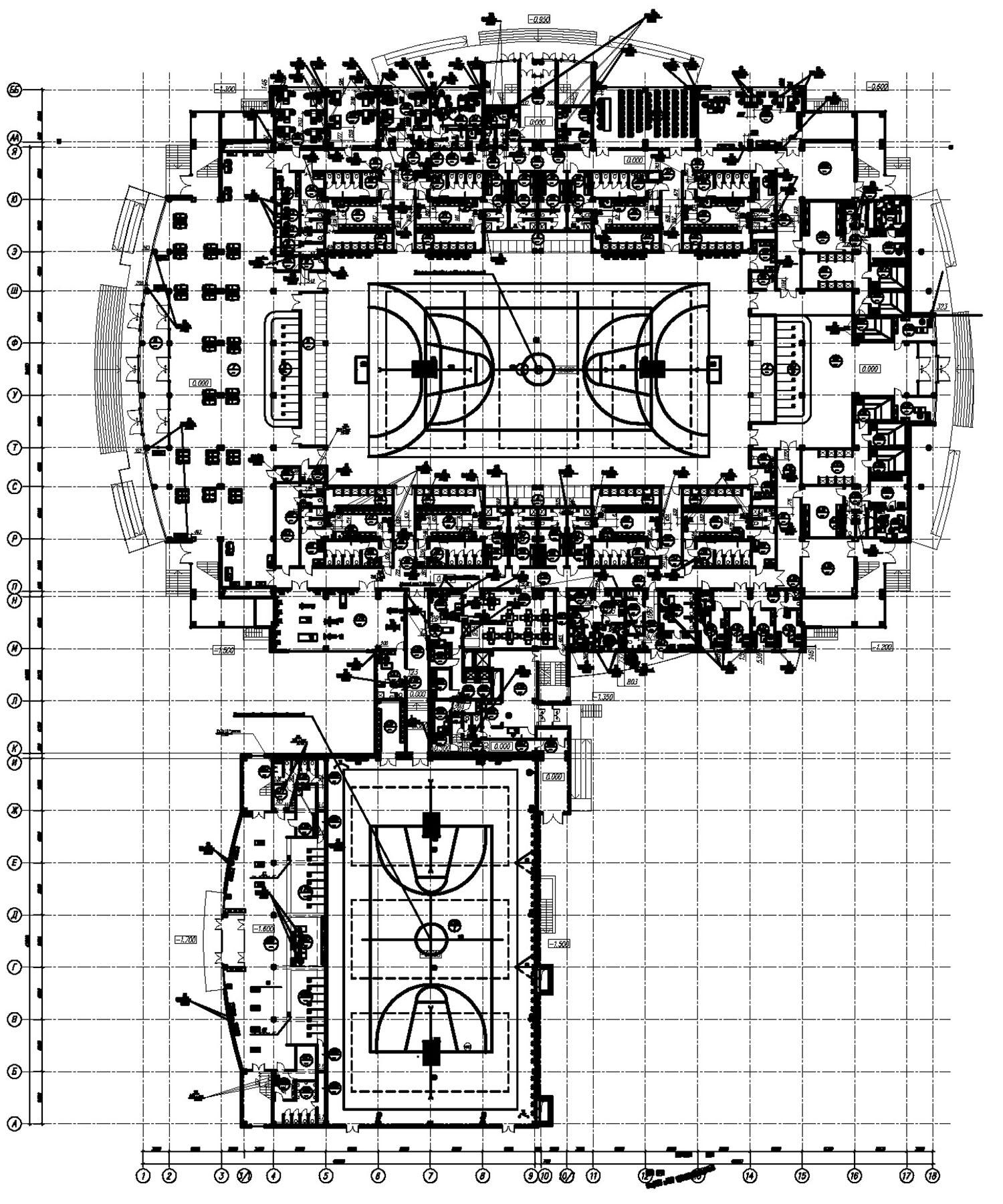 Проект центра волейбола. План на отм 0000