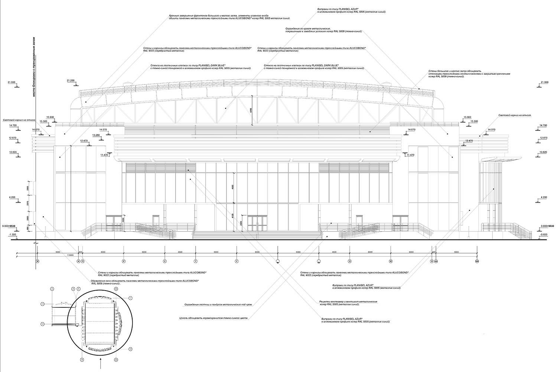 Проект центра волейбола.  Фасады