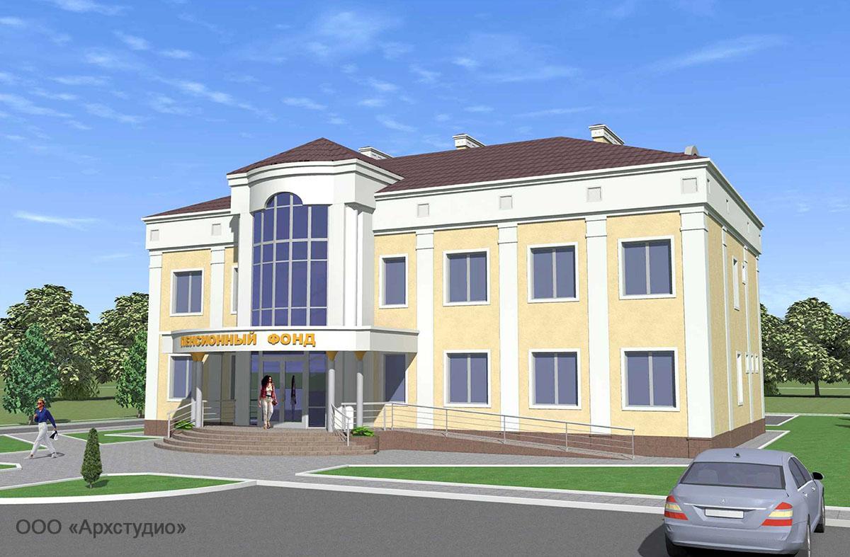 Проект административного здания. Визуализация