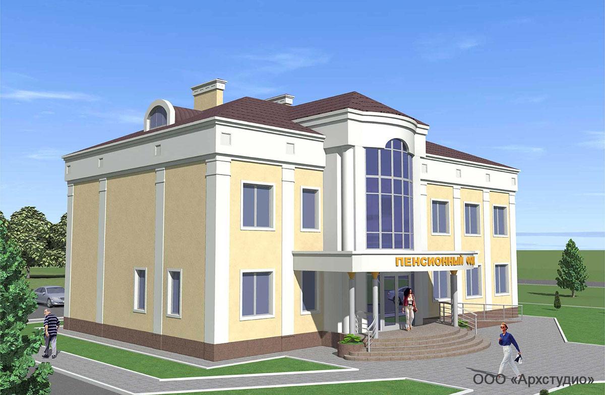Проект административного здания.  Визуализация 5