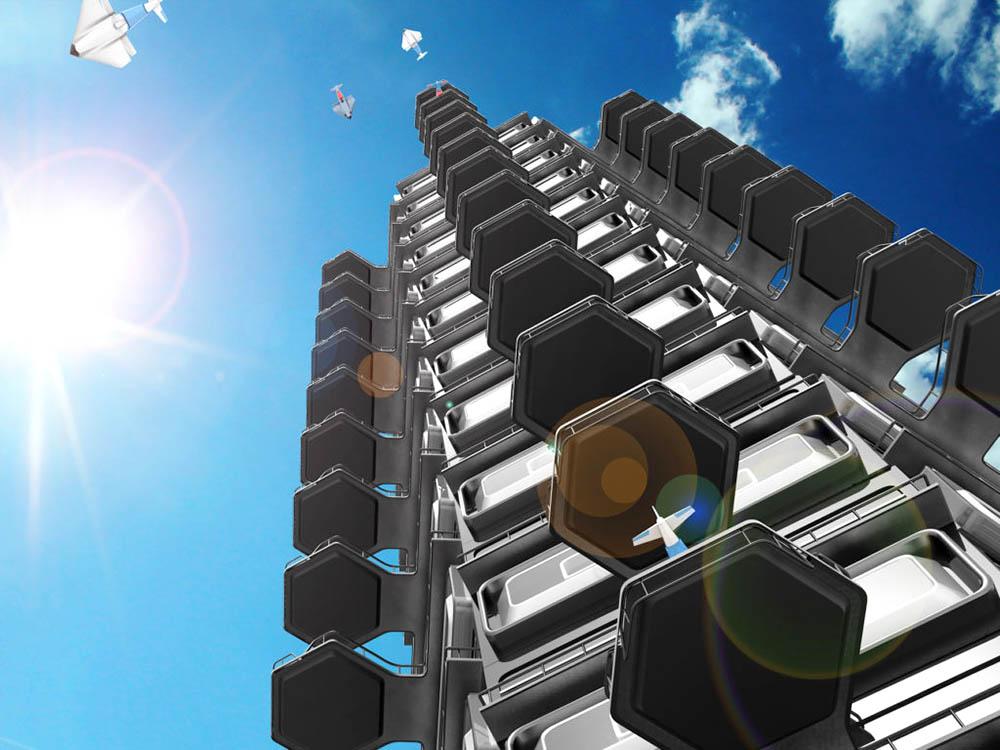 Площадки для беспилотников в домах будущего