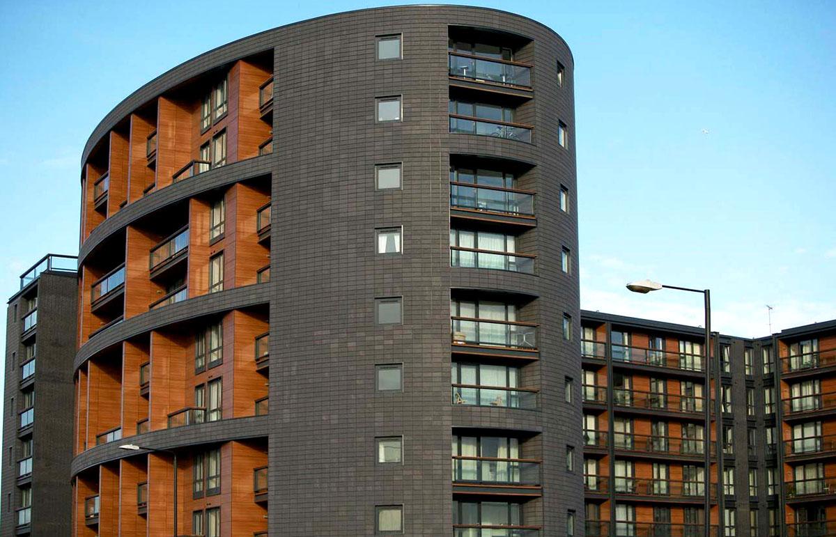 Оригинальные здания с использованием HPL панелей. Апартаменты