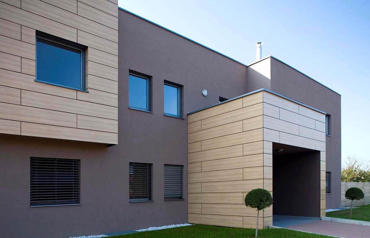 Оригинальные здания с использованием HPL панелей.  Вилла