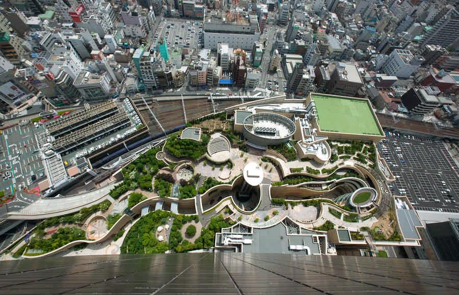Зеленый остров: Япония, Намба Парк в Осаке